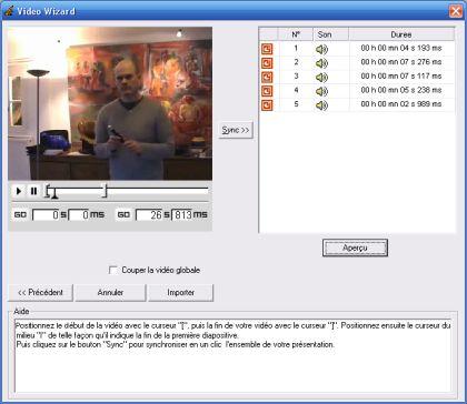 Grille de vidéo en mode intelligent
