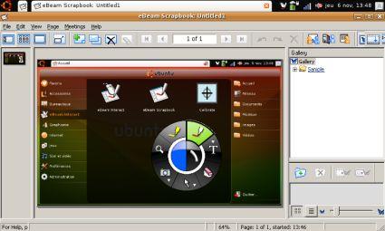 eBeam sur EEE Linux