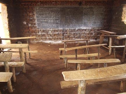 Salle de classe en Afrique