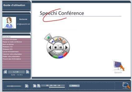 Lien vers guide d'utilisation Speechi Conf