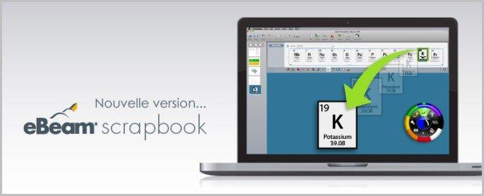 ebeam scrapbook tableau interactif logiciel