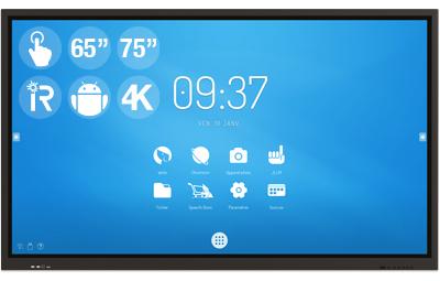 "Ecran interactif SpeechiTouch 65″ ou 75"", sous Android"