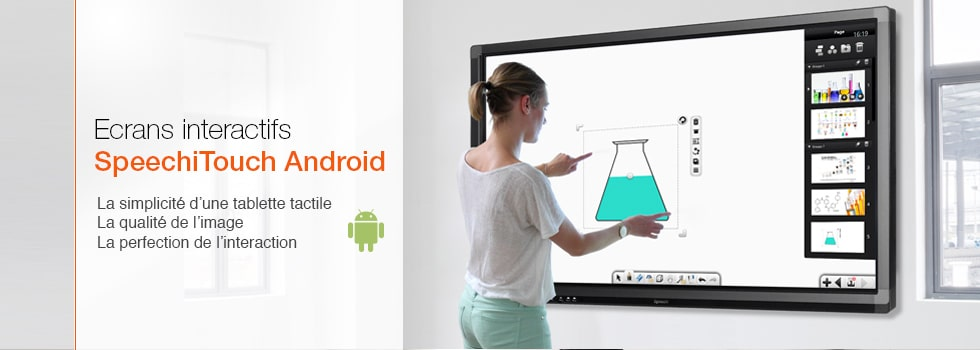 Ecrans interactifs SpeechiTouch android