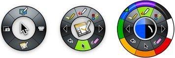 gereedschappenpalet van de interactieve eBeam Interact-software voor digitaal whiteboard