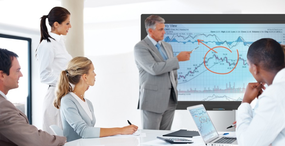interactive screen meeting room