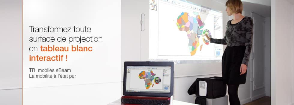 Le TBI tableau blanc interactif eBeam Edge