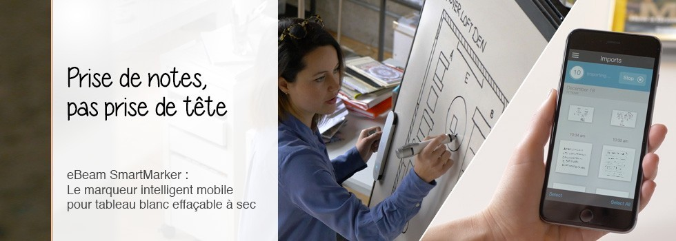 smartmarker tableau blanc intelligent mobile