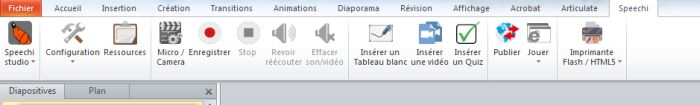 Barre d'outils Speechi 6 - PowerPoint vers Flash, PowerPoint vers HTML5
