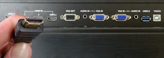 connectique de l'écran tactile