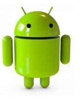 android dans l'écran tactile