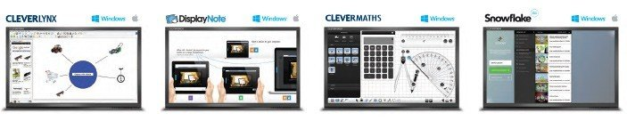 software voor clevertouch touchscreens