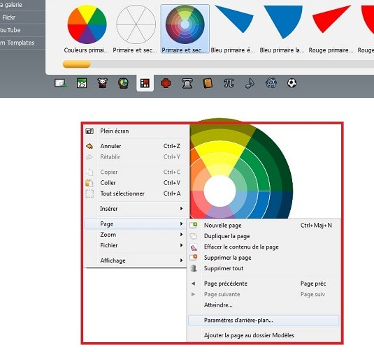 ebeam scrapbook menu clic-droit
