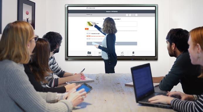 ecran projection interactif