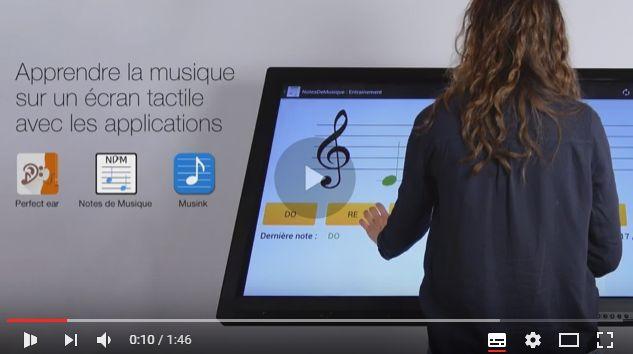 Ecran tactile géant pour la musique