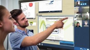 écran interactif pour la visioconférence