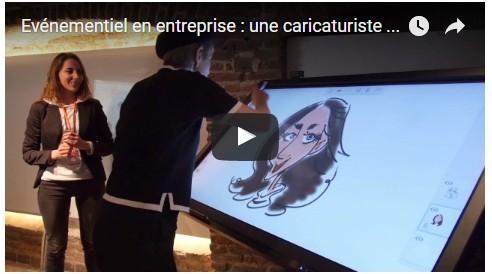 écran interactif tactile SpeechiTouch Pro (caricature vidéo)