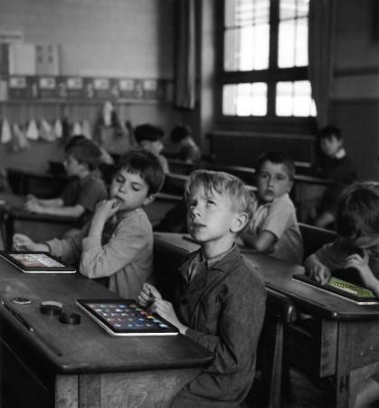 classe tablettes avec hotspot de l'écran tactile