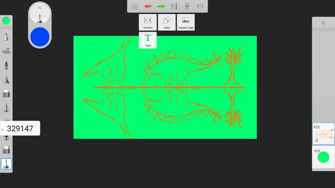 Changez la couleur de fond de votre visuel sur un écran interactif tactile