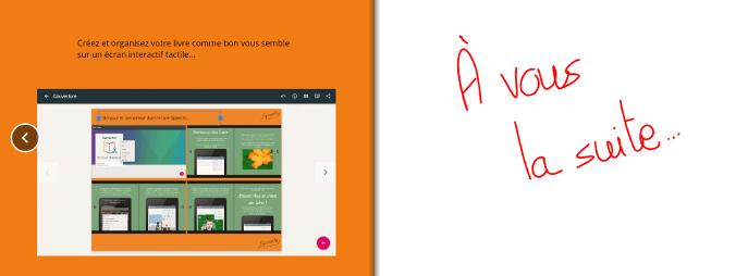 Continuez votre livre digital avec un écran interactif tactile