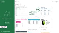 Page d'accueil Excel pour écrans interactifs tactiles