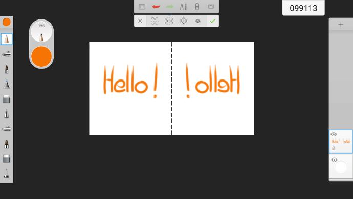 Votre création visuel sur un écran interactif tactile