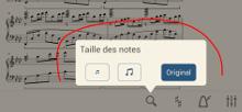 Réglez la taille des notes sur un écran interactif
