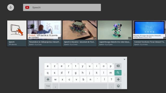 Visionnez et partagez des vidéos sur un écran interactif