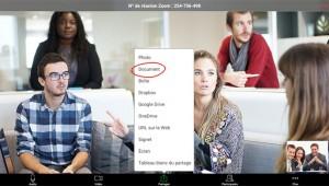 exemple d'écran pour une visioconférence avec Zoom