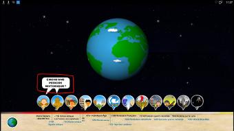 Apprendre l'histoire sur des écrans interactifs