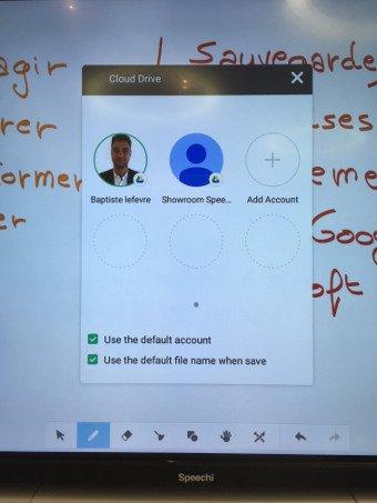 Gérez les comptes cloud sur un écran interactif depuis Note (2)