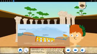 L'architecture romaine sur un écran interactif