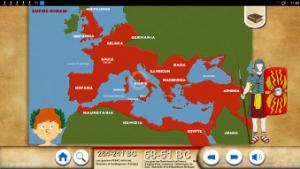 Le territoire romain sur un écran interactif