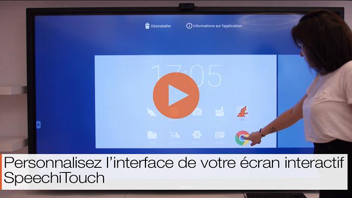 Image vidéo interfacepersonnalisable