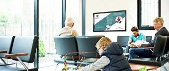 l'affichage numérique sur un écran interactif clevertouch