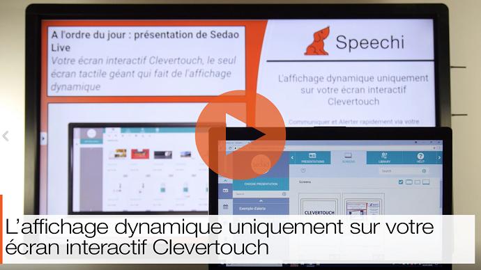 optimisez votre affichage dynamique sur écran interactif via sedao live