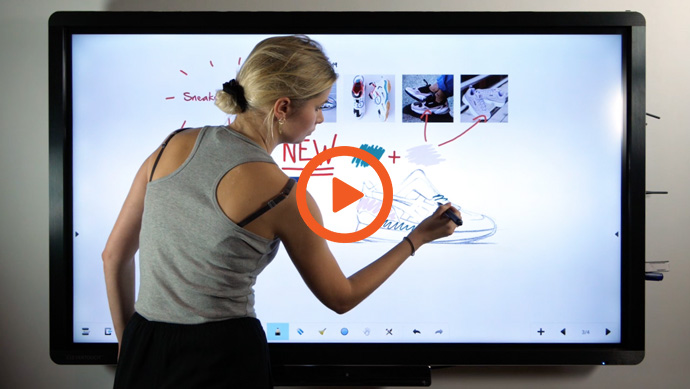 écran interactif CleverTouch - double stylet