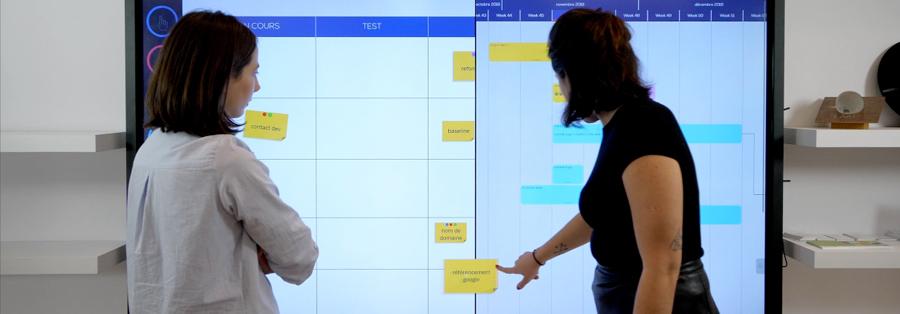Le double fenêtrage d'Ubikey sur écran interactif