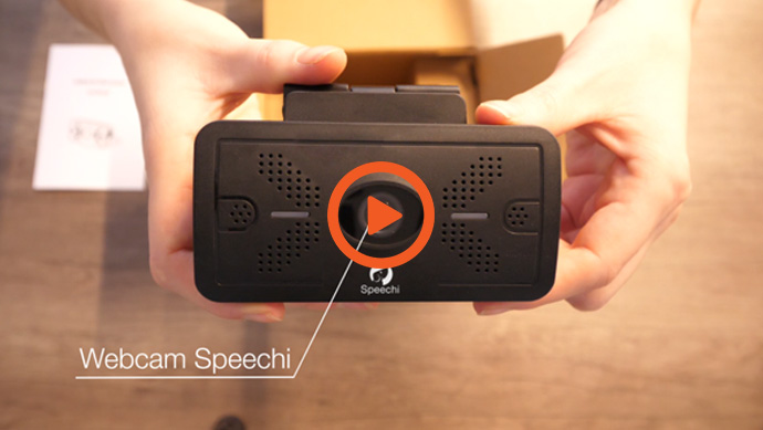 La vidéo in the box de la nouvelle webcam Speechi