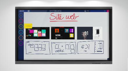 Le template Whiteboard du logiciel collaboratif Ubikey