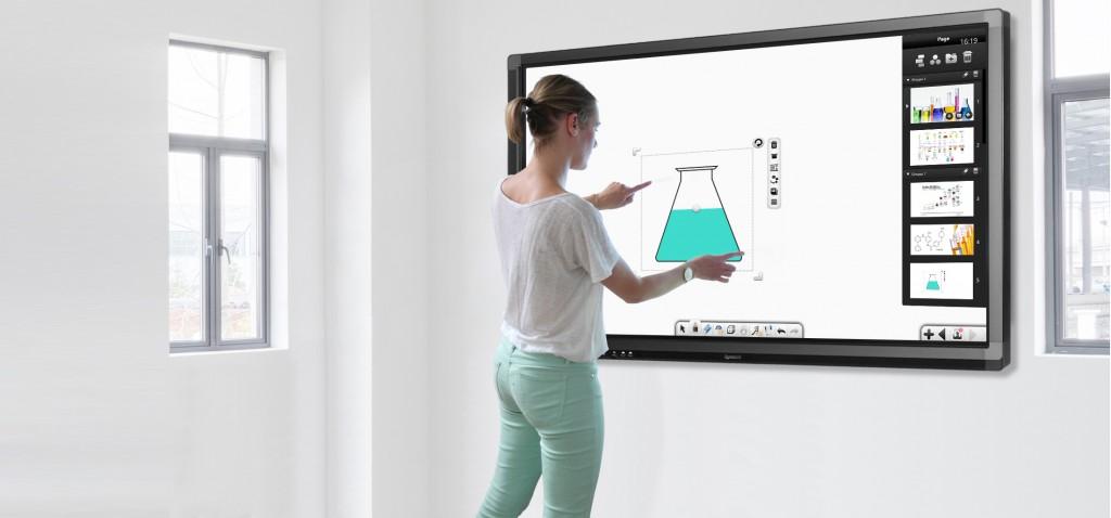ecran interactif logiciel collaboratif pour les eleves