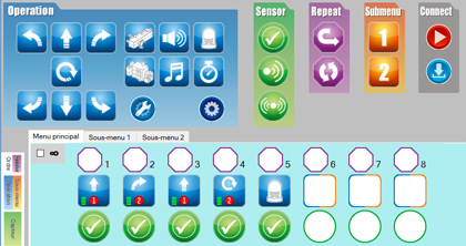 logiciel icone programmation robot