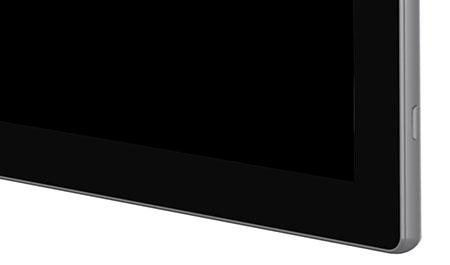 un écran tactile capacitif parfaitement plat