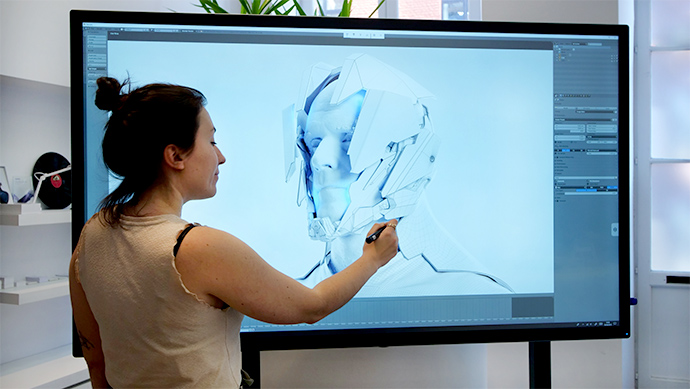 utilisation-ecran-interactif-speechitouch-capacitif
