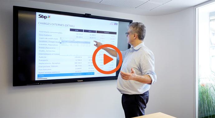Utilisation d'un écran interactif en entreprise (vidéo)