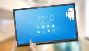 modèle d'écran interactif et tactile Androïd