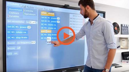 programmer robot écran interactif vidéo