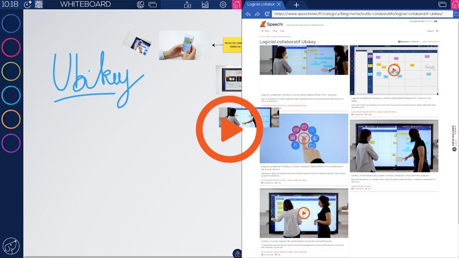 Une vidéo tutoriel du logiciel collaboratif Ubikey pour écran interactif