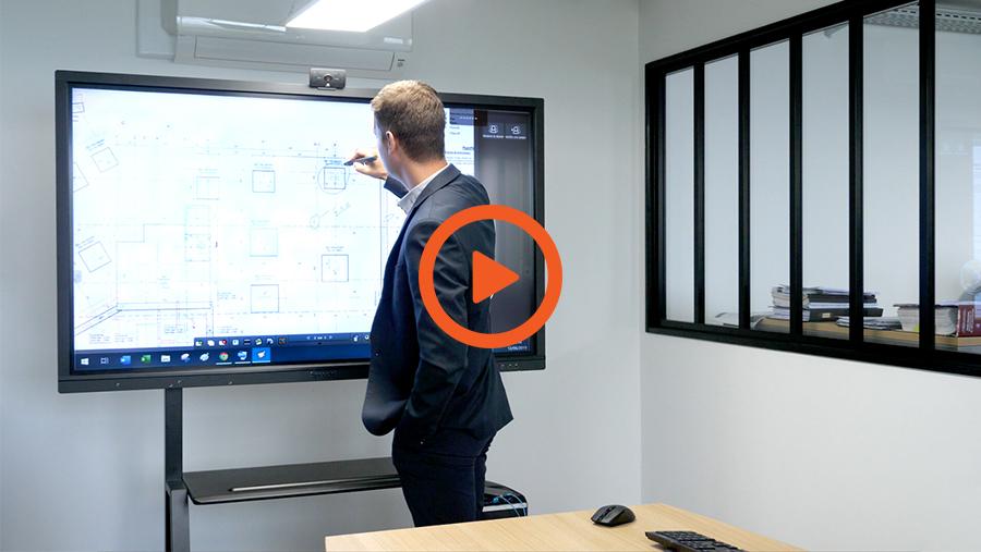 la vidéo d\'interview du bureau d\'étude Sodeba sur écran interactif