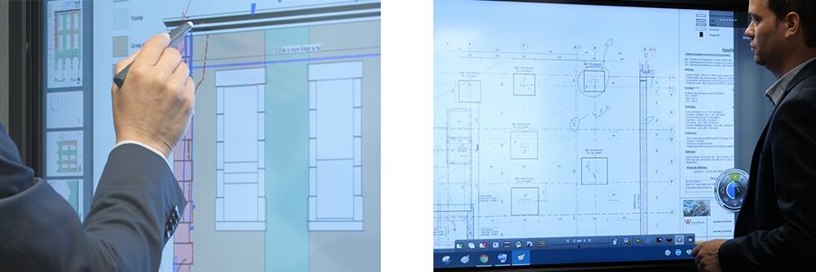 Utilisation du logiciel Scrapbook sur TBI mobile et écran interactif pour annoter des plans