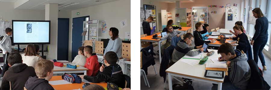 L'organisation de classe avec un écran interactif au collège Jean Moulin